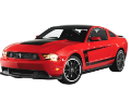 2011-2012 Mustang GT / 2012 Boss 302 / Axle Back / Black Exhaust Tips / S-Type (SKU: Borla-11789BC)