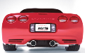 1997-2004 Corvette C5 / C5 Z06 / Cat Back / Single Split Tips (SKU: Borla-12649)