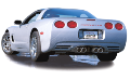 "1997-2004 Corvette C5 / C5 Z06 / Cat Back / Dual Split Tips 4"" x 7"" / S-Type (SKU: Borla-140038)"