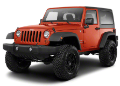 2012-2017 Jeep Wrangler JKU / 2 Door / Cat Back / Black Tips / Right Rear Exit / Touring (SKU: Borla-140462BC)