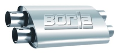 Borla Pro XS Muffler / 2.50 INLET DUAL / 2.50 OUTLET DUAL / 24 LENGTH / NOTCHED ENDS (SKU: Borla-400493)