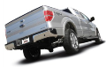 2011-2014 Ford F-150 / Cat Back Exhaust / Black Exhaust Tips /  S-Type (SKU: Borla-140416BC)