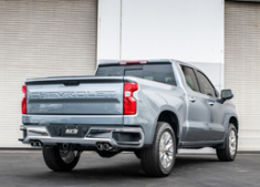 2019-2020 ( 5.3L ) Silverado 1500 / Sierra 1500 / Cat Back/ 3.0 Inch / Single Split Rear Exit / Dual Square Tips / S-Type
