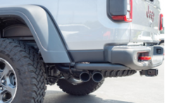 2020-2020 Jeep Gladiator / Cat Back / Dual Side Exit - Dual Ceramic Black Tips / S-Type