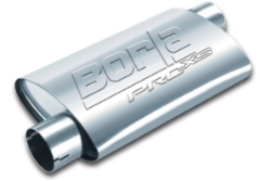 Borla Pro XS Muffler / 3.0 INLET OFFSET / 3.0 OUTLET OFFSET / 19 LENGTH / NOTCHED ENDS