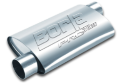 Borla Pro XS Muffler / 2.0 INLET OFFSET / 2.0 OUTLET OFFSET / 19 LENGTH
