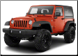 2012-2017 Jeep Wrangler JKU / 2 Door / Cat Back / Black Tips / Right Rear Exit / Touring
